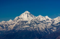 Mt 道拉吉里峰,尼泊尔 免版税库存照片