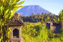 Mt.阿贡, Amed,巴厘岛。 库存图片