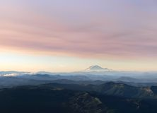 Mt Adams Aerial View Stock Photo