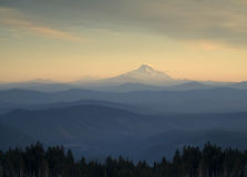 Mt. Adams from Mt. Hood. A view to Mt. Adams from Mt. Hood Royalty Free Stock Images