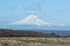 Mt. Adams. Seen from Washington State in the winter stock photos