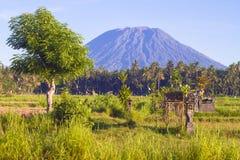 Mt. Agung, Amed, Bali. Obraz Stock