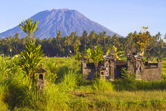 Mt. Agung, Amed, Bali. Royalty Free Stock Photography