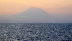 Mt. Agung. Sunset, with Mt. agung as background Stock Photo