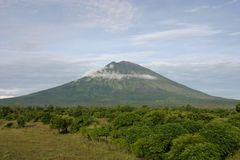 The volcano, Mt. Agung. royalty free stock photography