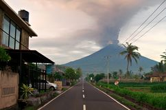 Mt Agung wulkanu erupcja w Bali - 25 - 27 Listopad 2017 Obraz Royalty Free