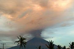 Mt Agung wulkanu erupcja w Bali - 25 - 27 Listopad 2017 Obraz Stock