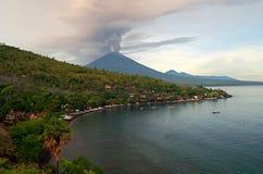 Mt Agung wulkanu erupcja w Bali - 25 - 27 Listopad 2017 Obrazy Stock