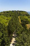 Mt. Akropolis Filerimos - Ialyssos Stock Afbeeldingen
