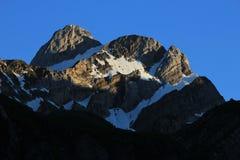 Mt Altmann appena prima il tramonto Fotografie Stock