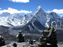 Mount Ama Dablam in the Himalayas Stock Photos
