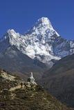 Mt. Ama Dablam Royalty-vrije Stock Afbeeldingen