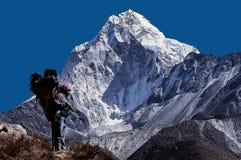 MT Ama Dablam, Everest-Gebied Royalty-vrije Stock Foto's