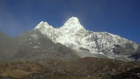 Mt. Ama Dablam in the Everest Region of the Himalayas. Nepal.  stock footage