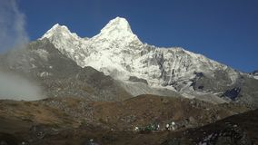 Mt. Ama Dablam in the Everest Region of the Himalayas. Nepal.  stock video
