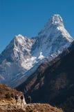 Mt. Ama Dablam nella regione di Everest, Nepal Fotografia Stock