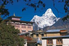 Mt Ama Dablam, regione di Everest Immagini Stock Libere da Diritti