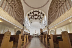 Mt Angel Abbey Church Interior. Mt Angel Abbey Catholic Church Interior Architectural Detail Stock Image