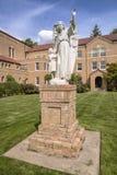 Mt Angel Abbey und Boden Oregon Lizenzfreies Stockfoto