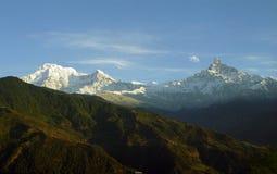 Mt.Annapurna dans grand-angulaire Images libres de droits