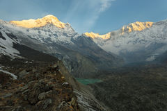 Mt Annapurna I in Nepal royalty free stock images