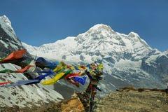 Mt Annapurna południe w Nepal fotografia royalty free