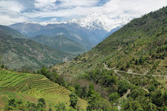 Mt Annapurna południe w Nepal obrazy stock