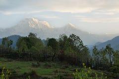 Mt Annapurna południe w Nepal zdjęcie stock