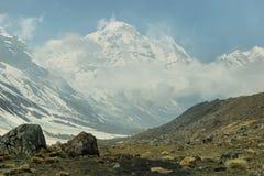 Mt Annapurna południe widok fotografia royalty free