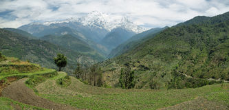 Mt Annapurna South in Nepal royalty free stock photography
