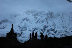 Mt annapurnaen royaltyfri foto