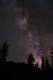 Mt. Antero Mountain Range, The Milky Way At Night Royalty Free Stock Photo