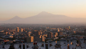 Mt. Ararat. View on Mt. Ararat at Yerevan, Armenia Stock Photography
