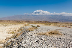 Mt Ararat covered with clouds. Turkey Stock Image