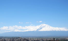 Mt. Ararat, Yerevan, Armenia. Mt. Ararat view from Yerevan, Armenia Royalty Free Stock Photography