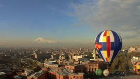 Mt Ararat in Yerevan, Armenien stock footage