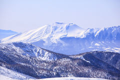 Mt. Asama in winter Royalty Free Stock Image