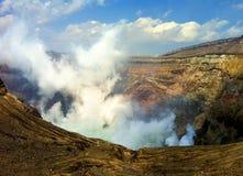Mt. Aso-Vulkaan Stock Foto