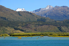 Mt Aspiring on Lake Wanaka. Mt Aspiring National Park, New Zealand royalty free stock photography