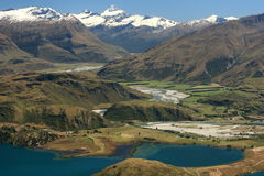 Mt Aspiring with lake Wanaka Stock Image