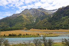 Mt Aspiring National Park. Landscape in Mt Aspiring National Park , New Zealand royalty free stock photo