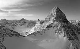 Mt Assiniboine鸟瞰图 库存照片