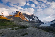Mt. Athabasca Glacier, Icefields Parkway Royalty Free Stock Photo