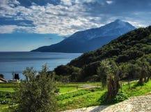 Mt Athos Royaltyfri Bild