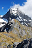 MT AWFUL (2192M), New Zealand. MT AWFUL (2192M) in Mount Aspiring national park, scenery from Gillespie Pass Circuit, New Zealand stock photography