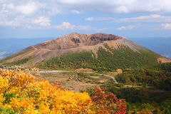 Mt. Azumakofuji of tinted autumn Royalty Free Stock Photography