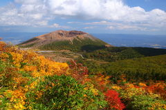 Mt. Azumakofuji of tinted autumn Royalty Free Stock Images