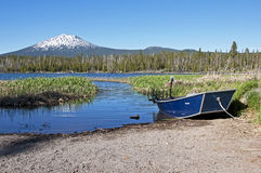 Mt Bachelor. From the Cascade Lakes Highway in Oregon Royalty Free Stock Image