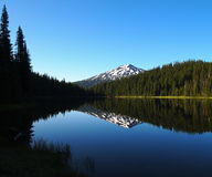 Mt. Bachelor morning reflection Royalty Free Stock Photo