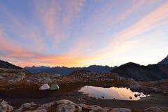 Mt. Baker Autumn Sunrise Stock Photography
